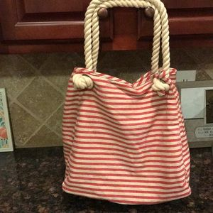 Talbots striped tote